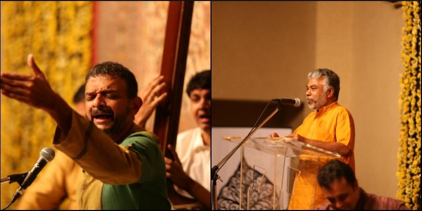 TM Krishna (left) and Perumal Murugan. Image courtesy: Madras Photo Bloggers - Srivatsan Sankaran and Charles Antony