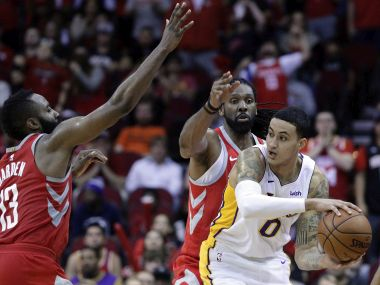 NBA Kyle Kuzma helps Lakers halt Rockets 14game winning streak Spurs defeat Trailblazers