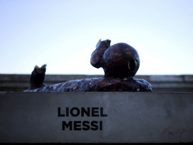 La Liga: Barcelona star Lionel Messi's statue destroyed by vandals in Argentina for second time in a year