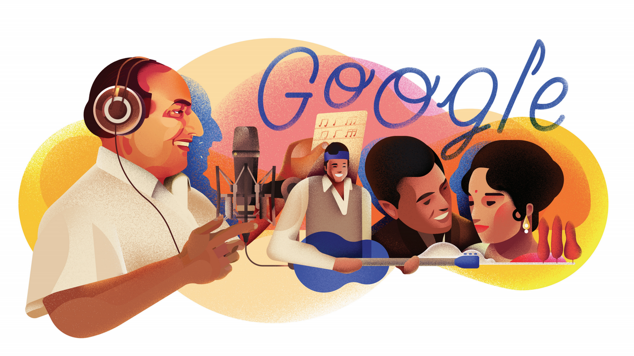 Mohammed Rafi's 93rd birth anniversary: Google curates special doodle