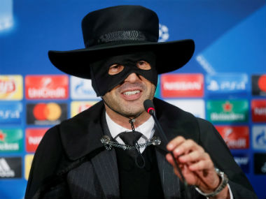 Champions League Shakhtar Donetsk boss keeps his word dresses up as Zorro after sealing last16 spot