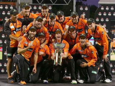 Perth Scorchers defeated Sydney Sixers in the final of the sixth edition to win their third title. Image courtesy: Twitter @ScorchersBBL