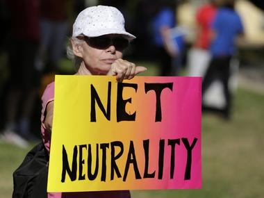 Lori Erlendsson attends a pro-net neutrality Internet activist rally. Reuters