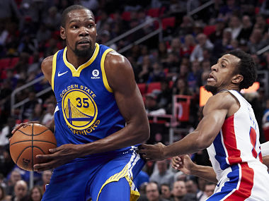 NBA: Cavaliers, Celtics lose; Warriors ride on Kevin Durant's heroics to storm past Pistons