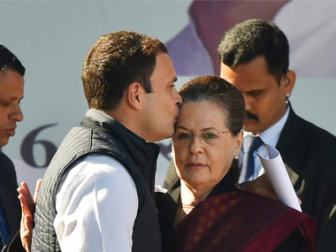 Congress president Rahul Gandhis kiss on mother Sonia Gandhis forehead is the perfect farewell to exparty chief