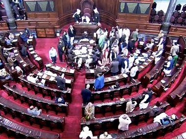 Rajya Sabha adjourned for the day following noisy protests by AIADMK and TDP members over various issues