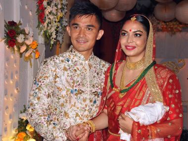 Sunil Chhetri ties the knot with long-time girlfriend Sonam Bhattacharya in Kolkata
