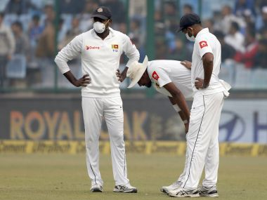 India vs Sri Lanka: Suranga Lakmal vomits in first session as pollution continues to dominate Delhi Test