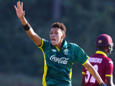 File image of Thando Ntini, son of former South Africa speedster Makhaya Ntini. Image courtesy: Twitter/@OfficialCSA