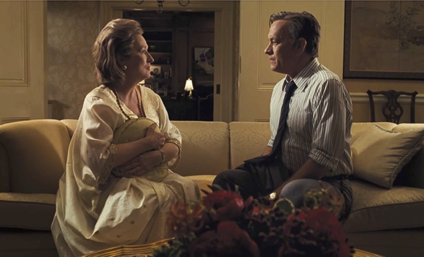 Meryl Streep and Tom Hanks in a still from The Post. YouTube