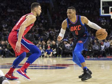 NBA Russell Westbrook nets tripledouble in Thunders thrilling win Rockets hold off Spurs