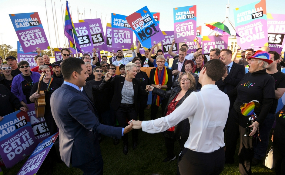 Australia legalises same-sex marriage with landslide vote in favour of changing law
