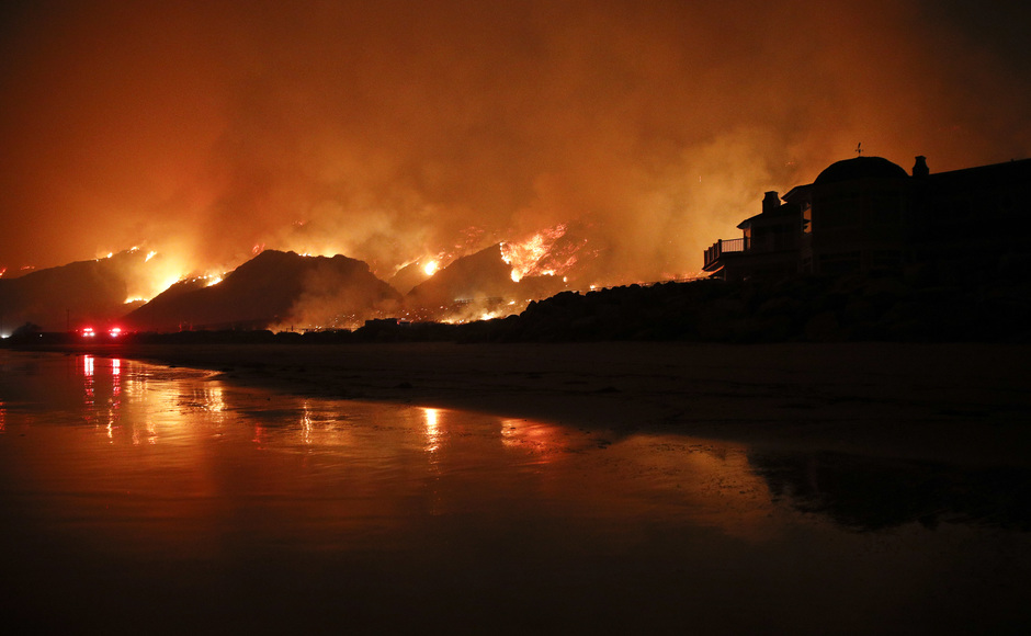 Wildfire erupts in Los Angeles as firefighters battle destructive blazes across Southern California