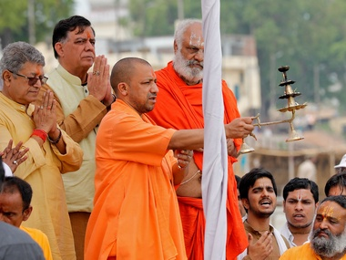 Yogi Adityanath speaks No conflict in reconciling dharma and democracy Manusmriti and Constitution