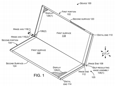 Microsoft files patent for a foldable dualscreen notebook which may resemble its Courier concept