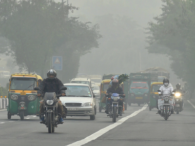 Delhi pollution levels reduce significantly due to gusty winds rainfall overall air quality index jumps up to moderate category