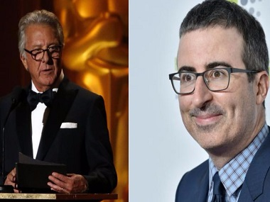 John Oliver grills Dustin Hoffman about sexual harassment allegations; Twitter shows support