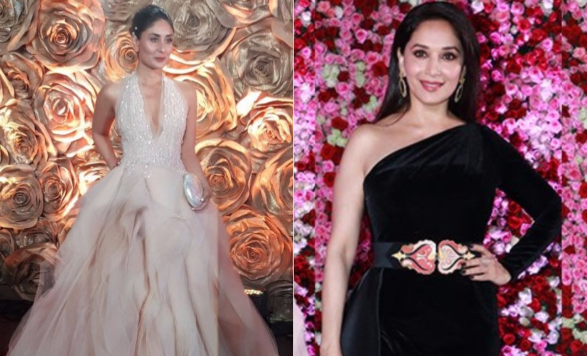 Kareena Kapoor Khan, Madhuri Dixit at the Lux Golden Rose Awards. Images from Twitter.