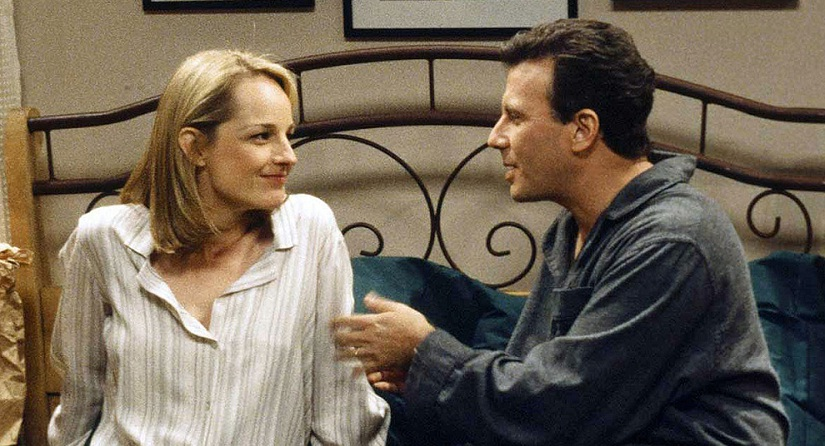 Helen Hunt and Paul Reiser in a still from Mad About You. YouTube