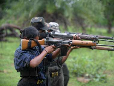 Five Maoists killed two jawans injured in gunfight at Chhattisgarhs Narayanpur district huge cache of weapons seized says official