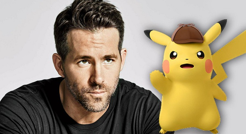 Ryan Reynolds and Pikachu. Image from Twitter/@TheGamnesia