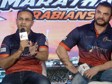 Virender Sehwag will be one of the attractions at the T10 Cricket League. PTI