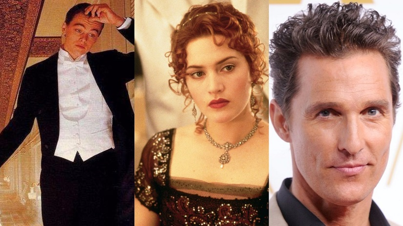 Leonardo Di Caprio-Kate Winslet-Matthew McConaughey. Images from Twitter.