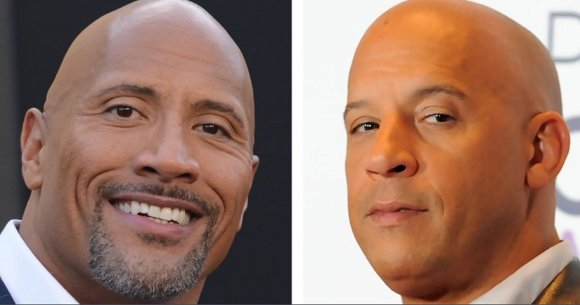 Dwayne Johnson and Vin Diesel. Image from Twitter/@ProducerBooster