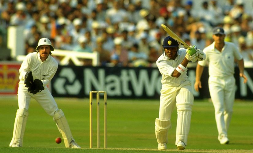 India's Sanjay Manjrekar in action during the Trent Bridge Test in 1990. Reuters