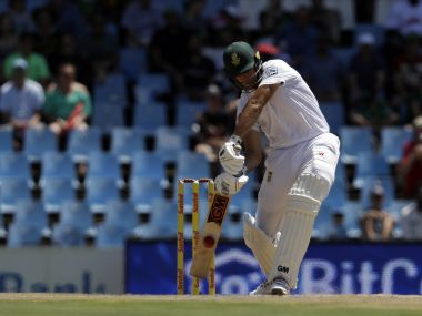 South Africa's Aiden Markram plays a shot against India at Centurion Park. AP