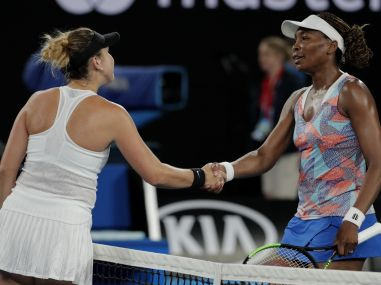 Australian Open 2018 Venus Williams ousted by Belinda Bencic seeded CoCo Vandeweghe Kevin Anderson also out