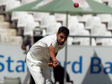 Bhuvneshwar Kumar collected a wicket off each of his first three overs on Day 1 of the first Test. Reuters
