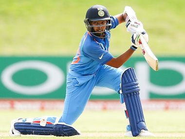 Indian U-19 skipper Prithvi Shaw is in good form with consecutive half-centuries in both the games so far. Image courtesy: ICC