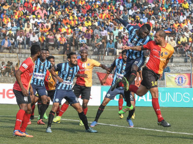 ILeague 201718 East Bengal bounce back from twogoal deficit to hold table toppers Minerva Punjab