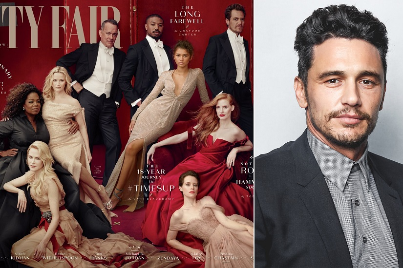 James Franco digitally erased from cover of Vanity Fairs Hollywood issue after sexual harassment allegations