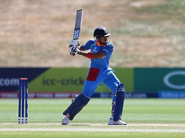 Shubman Gill slammed his third half-century in as many innings in the ICC U-19 World Cup 2018. Image courtesy: @cricketworldcup