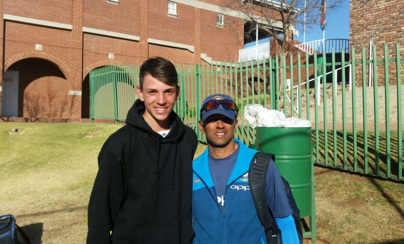 Jansen brothers impressed India 'A' coach Rahul Dravid in nets. Courtesy: Sandipan Banerjee