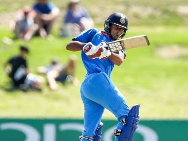 Manjot Kalra in action against Australia in India's U-19 World Cup opener. Twitter