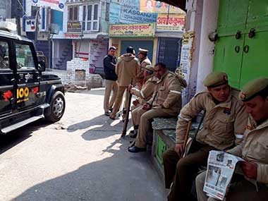 Kasganj continues to simmer after mosque door is set ablaze authorities rush to pacify angry residents