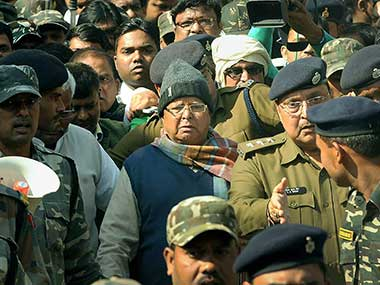 Fodder scam case Jharkhand HC rejects Lalu Prasad Yadavs bail petition in Deoghar treasury fraud