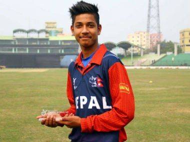 File image of Sandeep Lamichhane. Image credit: Official Facebook page of Cricket Association of Nepal — CAN