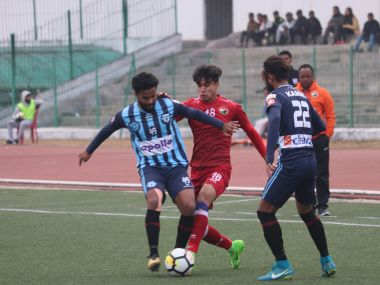ILeague 201718 Minerva Punjab FC cement top spot with narrow win over Shillong Lajong