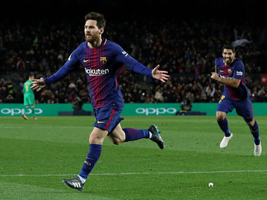 La Liga Lionel Messis late goal helps Barcelona claim comeback win over Alaves Atletico Madrid beat Las Palmas