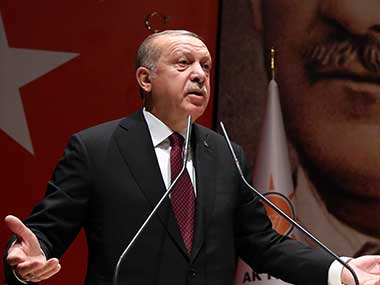 Turkish president Recep Tayyip Erdogan says Syrian military operation against Kurds would stretch as far as Iraq