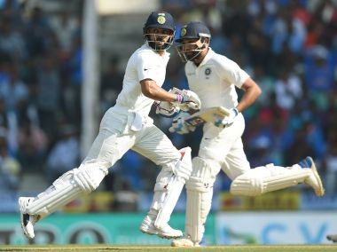 Rohit Sharma (R) has scored only two half-centuries outside the sub-continent. AFP