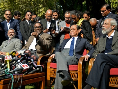 SC judges vs CJI Four Supreme Court Justices attend court takes up routine work after 12 January conference