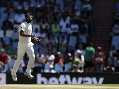India's Mohammed Shami during the second Test at Centurion Park. AP