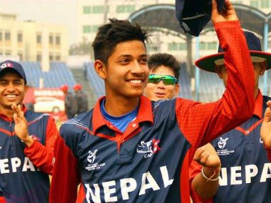 Sandeep Lamichhane became the first cricketer from Nepal to bag an IPL contract. Image credit: Official Facebook page of Cricket Association of Nepal-CAN