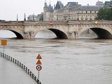 Paris readies for floods as river Seine engulfs large parts of cities wine cellers and museum basements under threat