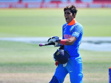 Shubman Gill produced another fine knock as India beat Paksitan in the semi-final to reach the final of the 2018 ICC U-19 World Cup. Image Courtesy: Twitter/@ICC